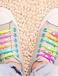 Eruner® Double Color Style Jazzy Sport Laces: Revolutionary Silicone Laces Makes Shoes Into Slip-Ons(12PCS)