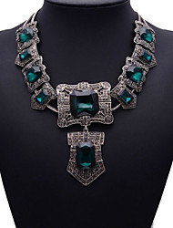 Fashion Jewelry Women's Blue Gem Necklace
