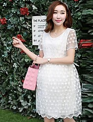 Maternity Cute Lace Dress Summer Korean Style Pregnancy Dresses