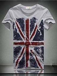 Men's Long Sleeve T-Shirt , High Quality 100% Cotton Blend Casual / Work / Formal / Sport / Plus Sizes Print