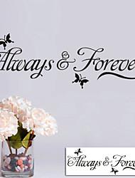 Sempre para sempre enfeites para casa decalques de parede zy8153 decorativas Adesivo de Parede de vinil adesivos de parede removível