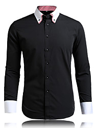 Men's High Qulity Fashion Double Neck Long Sleeve Shirts
