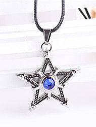 Fashion Jewelry BLACK ROCK SHOOTER Vintage Casual Alloy Five-pointed Star Pendant Necklace