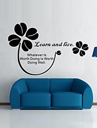 stickers muraux de style de décalques de mur apprendre et mots anglais en direct&cite muraux PVC autocollants