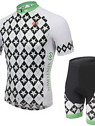 Cycling Jersey with Shorts Men's Short Sleeve BikeBreathable / Quick Dry / Moisture Permeability / Reflective Strips / Back Pocket /