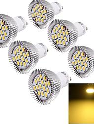 7W GU10 Focos LED 15 SMD 5630 700 lm Blanco Cálido Decorativa AC 85-265 V 6 piezas