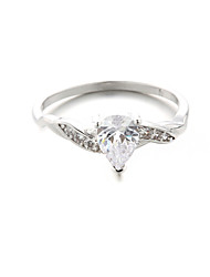 Fine Jewelry Copper Zircon Diamond Engagement Ring Wedding Ring