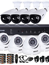 ZOSI® 8 Channel H.264 HDMI D1 DVR 8 pcs 800TVL IR Night Vision 70m Outdoor Camera CCTV Security Surveillance System