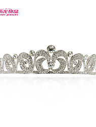 Neoglory Jewelry Wedding Tiara Crown Hair Accessories with Clear Austrian Rhinestone  for Lady Pageant