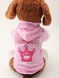 Katzen / Hunde Kapuzenshirts / T-shirt Rosa Hundekleidung Sommer Buchstabe & Nummer / Tiaras & Kronen Hochzeit / Cosplay