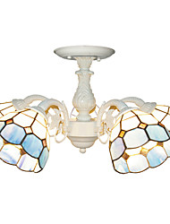 BOXOMIYA® 5-led White Light Tiffany Chandeliers Living Room/Bedroom Chandeliers