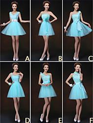 mezclar& vestidos de partido corto de mini de tul / y encaje 6 estilos vestidos de dama de honor (3227834)