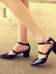 Sandali - Scarpe da donna - Tacco spesso - Tacco spesso DI PU