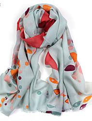 Women's Fashion 100% Wool Printed Scarf