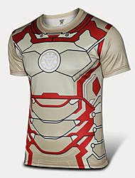 Cosplay Iron Man Male Tights With Short Sleeves