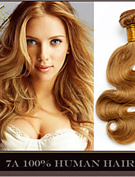 "3Pcs Lot 14-28"" Peruvian Virgin Hair Body Wave Wavy Honey Blonde Remy Human Hair Weave Weft Bundles Shedding Tangle Free"