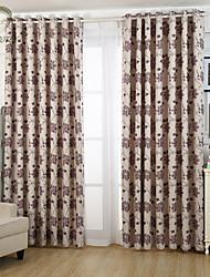 um painel da flor bege cortina jacquard