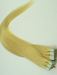 40Pcs 100g 18Inch-24Inch Brazilian Virgin Human Hair 613 Color Silky Straight Tape Hair Extension