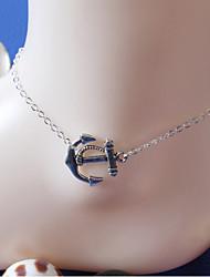 mulheres do corpo de moda jóias de verão charme praia de liga leve ocasional do vintage tornozeleiras navio âncora