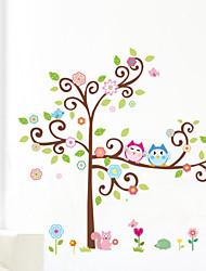 сова наклейки для стен красочные дерево стены Arts zooyoo1001 мультфильм наклейки на стены DIY животных стены стикеры для детской комнаты
