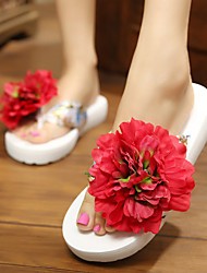 Women's Shoes Taffeta Flat Heel Flip Flops Flats Outdoor
