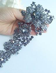 Wedding Accessories Gray Rhinestone Crystal Bridal Brooch Wedding Deco Orchid Flower Brooch Bridal Bouquet Women Jewelry