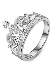 Unique Royal Crown Design Jewelry Sterling Silver Ring Engagement SONA Simulate Diamond Ring for Women Platinum Plated