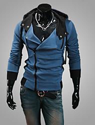 Bodycon/Business Kapuzenshirt - Langarm - MEN - Pullover mit / ohne Mützen ( Baumwoll Mischung )