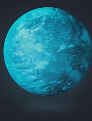 funlife® sticker mural stickers muraux, brillent dans le noir bule planète muraux PVC autocollants fl1083