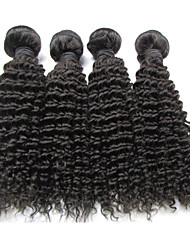 "4Pcs/Lot 8""-24"" Peruvian Virgin Hair Natural Black Color Kinky Curly Hair Extensions Factory Sales"