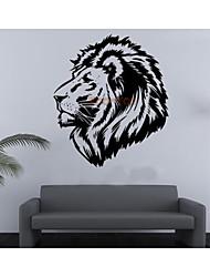 leão miúdo adesivos de parede DIY zooyoo8004 removíveis adesivos de parede vinil decoração de casa
