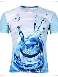 Sexy/Bodycon/Bedruckt Rund/V-Ausschnitt - Kurzarm - MEN - T-Shirts ( Baumwolle )