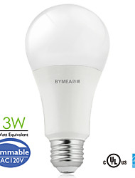 bymea e26 13w 1100lumen dimbare led-lampen licht warm wit, daglicht 75watt equivalent (100-120)