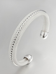 grande festa de promoção / trabalho / prata banhado ocasional bracelete elegante jóias