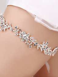 Garter Senior Emulation Silk Rhinestone White
