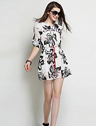 Women's Dress , Chiffon Above Knee ½ Length Sleeve