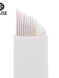 CHUSE™ S16 50pcs Permanent Makeup Needle Manual Eyebrow Tattoo Microblade 16 Sloped Needles