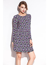 SWIMMART Slim Fit 2015 Casual Pattern Lycra Stretch Fabric Waist Wrinked Women Cotton Dress