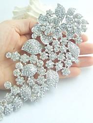 Wedding Accessories Silver-tone Rhinestone Crystal Bridal Brooch Wedding Deco Bridal Bouquet Flower Wedding Brooch