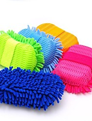 Super Clean Microfiber Washing /Car Care Cleaning Brush Cleaning Tools Sponge Random Color