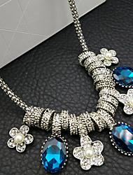 New Arrival Fashional Hot Selling Retro Gem Crystal Flower Necklace