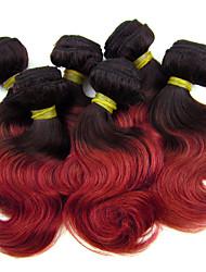 "4Pcs/Lot 8"" Brazilian Virgin Hair 1B/700S  Ombre Hair Human Short Body Wave Wholesale Cheap Price"