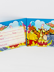 Winnie the Pooh Invitation Cards 12pcs/lot