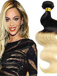 3Pcs/Lot Ombre Hair Extension Brazilian Weaves Color Hair Weave 1b 613 Ombre Brazilian Hair 613 Blonde Virgin Hair