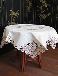 klassieke witte geborduurde tafelkleden vierkant (maat: 85cmx85cm)