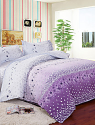 Mingjie Purple Flowers Bedding Sets 4pcs Duvet Cover Sets Bed Linen China Queen Size and Full Size
