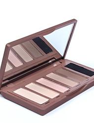 6Colors Professional Eyeshadow Concealer Smoky Eyes Makeup Cosmetic Palette #2