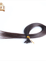 "20""inch U Tip Indian Virgin Hair Straight Human Hair Color Natural Black"
