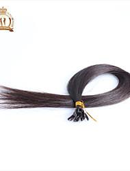 "20""inch U Tip Indian Virgin Hair Straight Human Hair Color Natural Black"