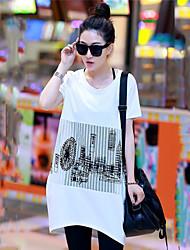 Women's Casual Micro-elastic Short Sleeve Long T-shirt (Cotton)(More Colors)